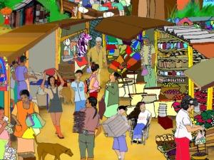 Besøg den interaktive landsby Santa Clara